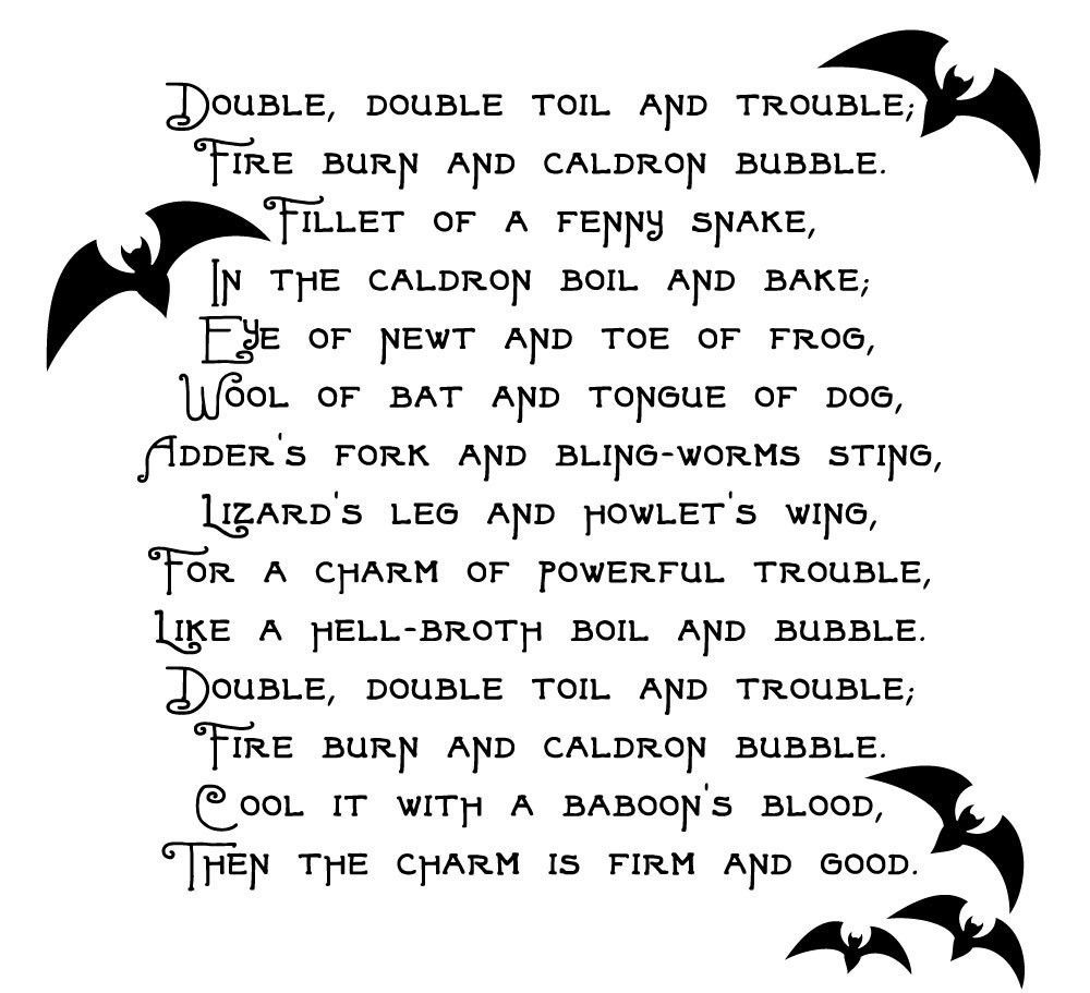 Boil Boil Toil and Trouble - Halloween Decoration
