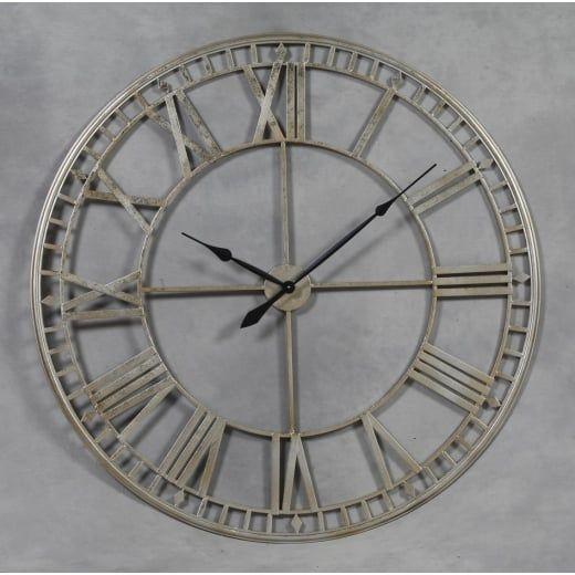 H H Extra Large Metal Skeleton Wall Clock Silver H H From Hurn Hurn Uk Skeleton Wall Clock Wall Clock Clock