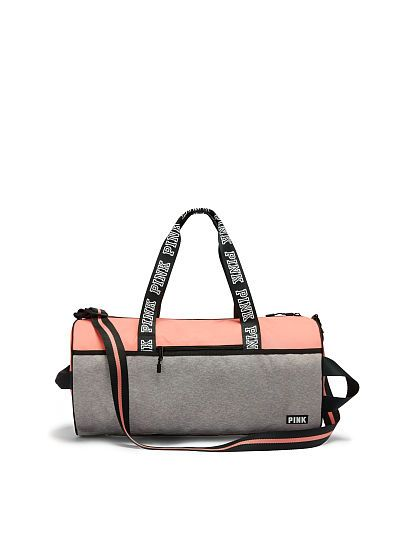 Victoria's Secret PINK - Gym Duffle (Paradise Peach / Grey Marl)