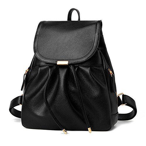 Casual Purse Fashion School Leather Backpack Shoulder Bag Mini Backpack for  Women   Girls 967cadb93fccc