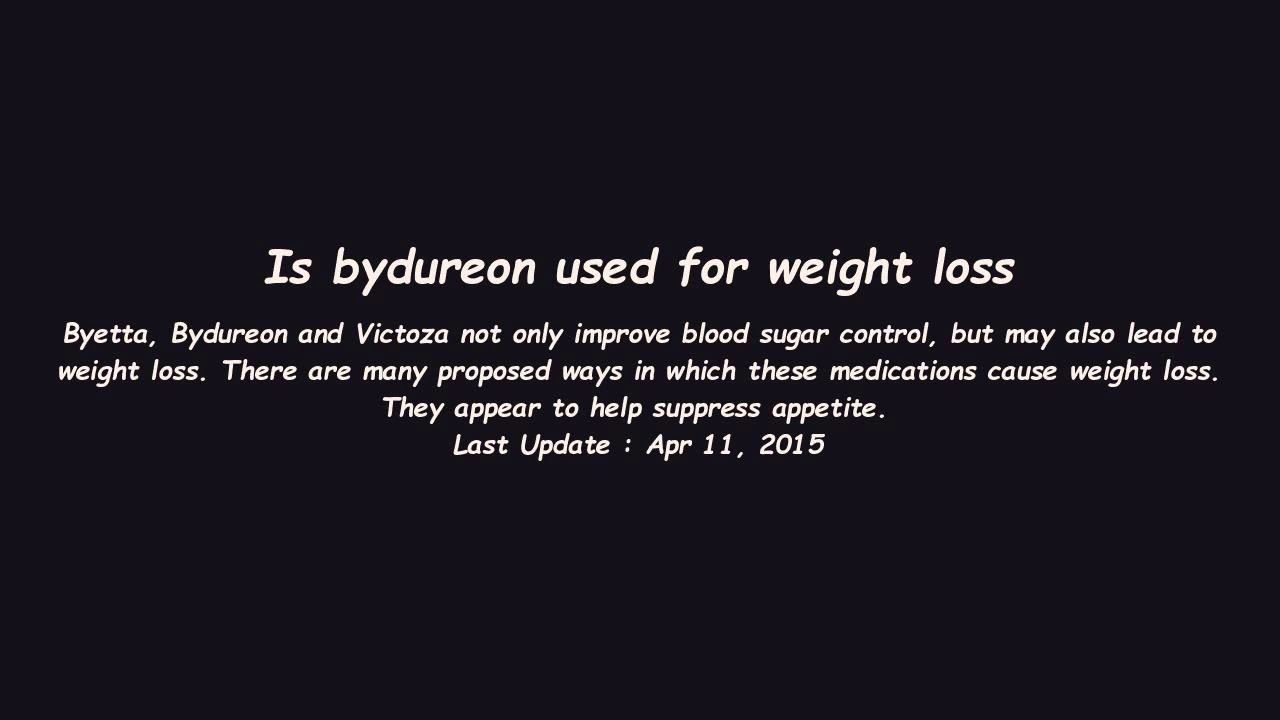 Is Bydureon Used For Weight Loss Https Cstu Io 6fbad3 Health