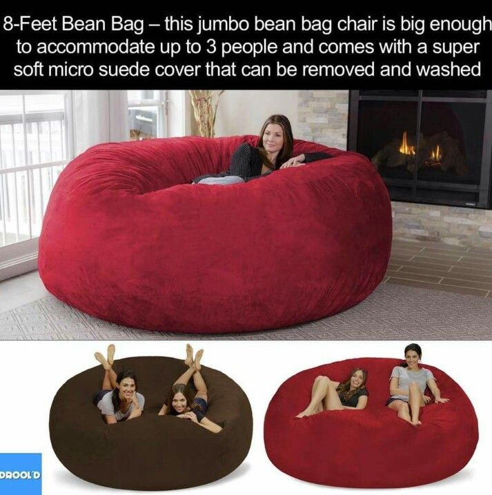 Huge Bean Bag. 8 Foot Jumbo Bean Bag Chair. Washable.