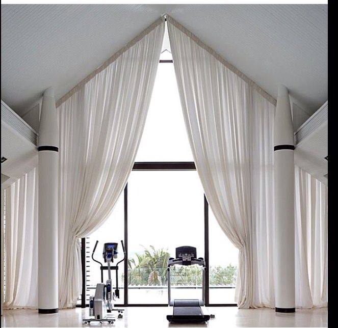 Coverings for odd shaped windows.
