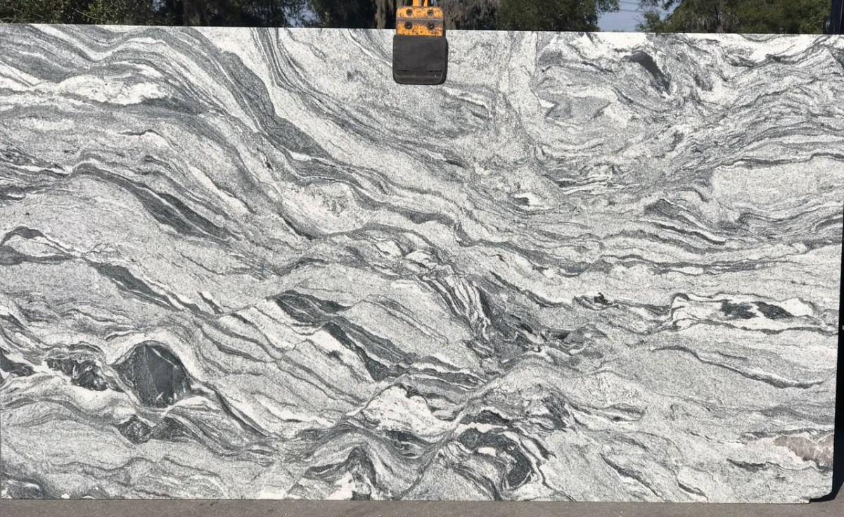 Whiteseagull Brushed Granite Is Soft Cottony Whites Are Densely Dappled And Speckled With Charcoal Ste Granite Granite Countertops Natural Stones
