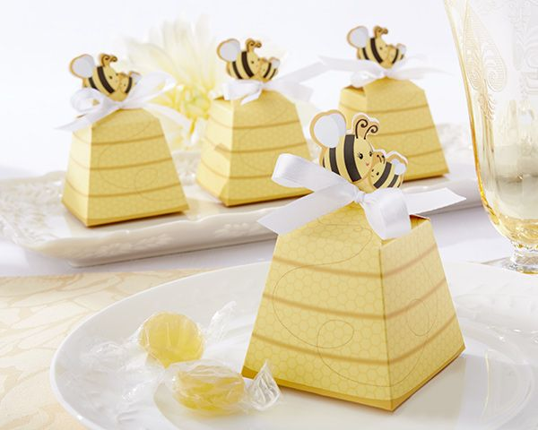 Sweet As Can Bee Mom And Baby Beehive Favor Box Set Of