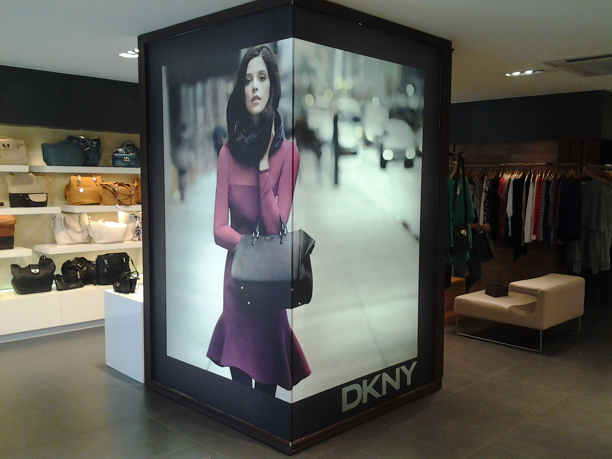DKNY Fall 2012 In-Store Light Box visual