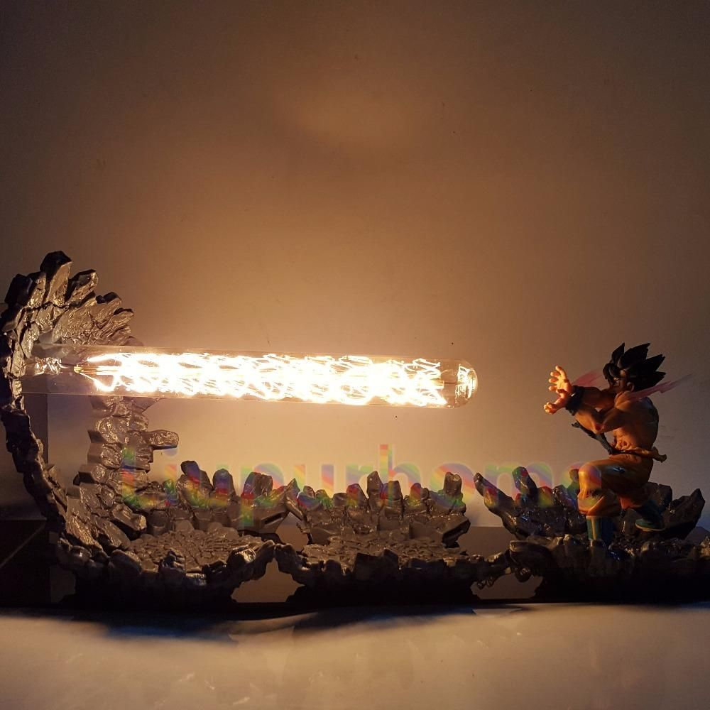 Dragon Ball Z Goku S Kamehameha Lamp Led Night Lamp Led Light Lamp 3d Led Light