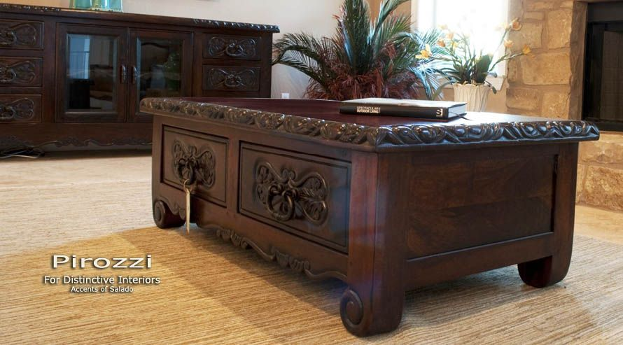 Old World Tuscan Furniture .. Hand Carved Tuscan Style Coffee Table. Find  It At