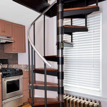 Best The Butler Adjustable Step Height Spiral Stairs Prefab 400 x 300