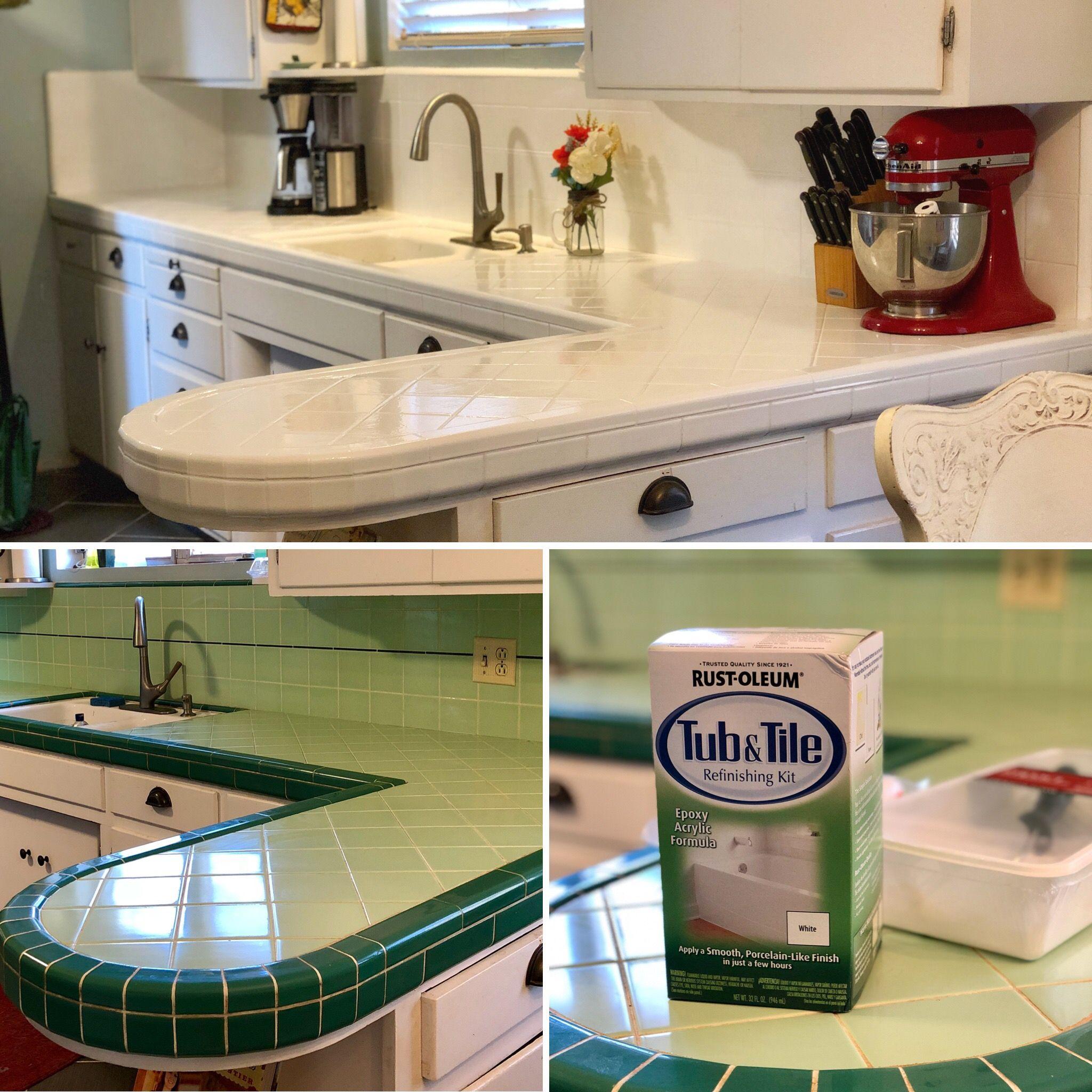 Kitchen Tile Countertop Refresh Tile Countertops Kitchen