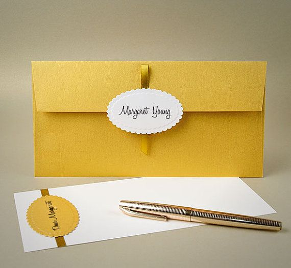 Christmas Money Gift Envelope. Gold Royal Style Envelopes with ...