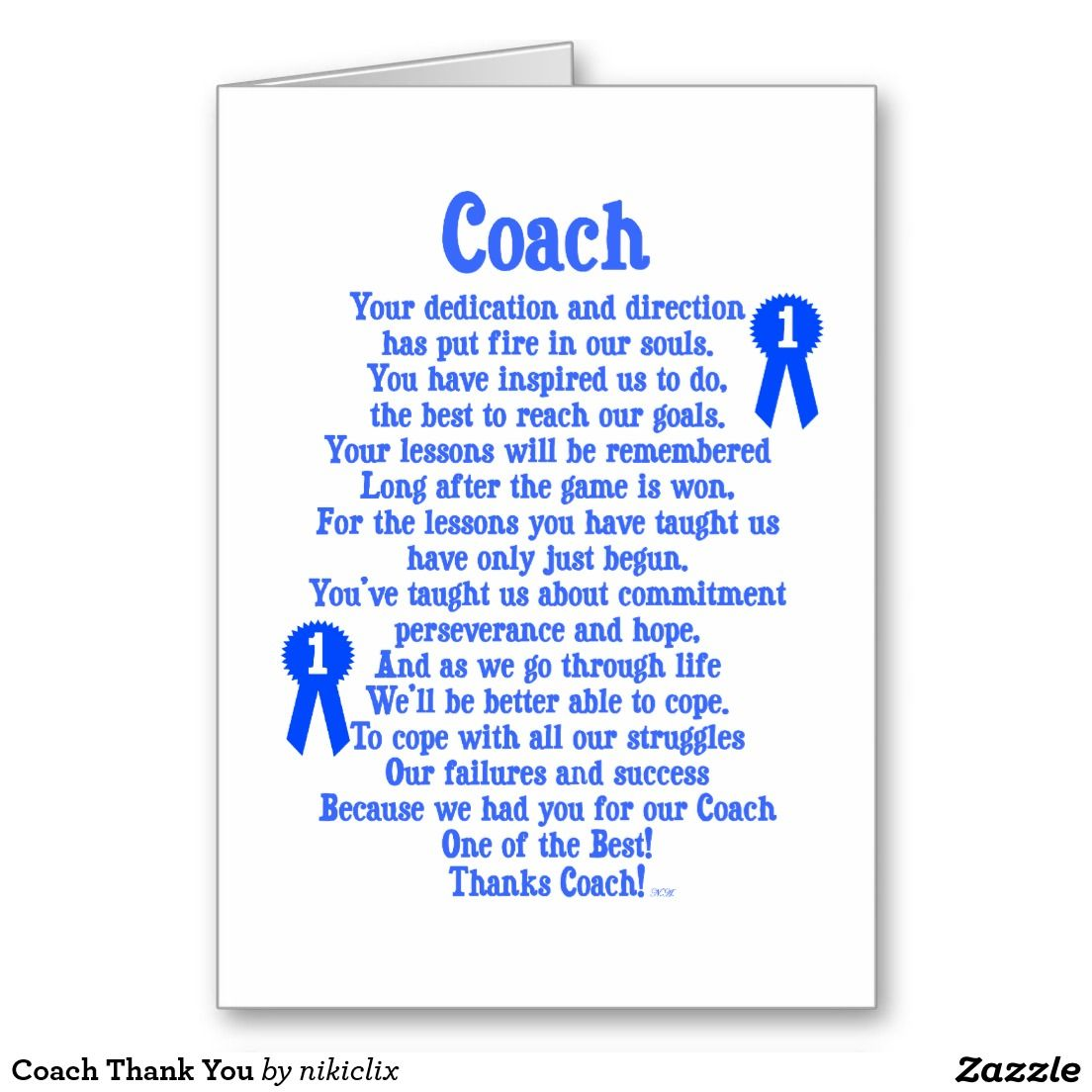 Coach Thank You Zazzle Com Coach Quotes Cheer Coach Gifts Thank You Poems