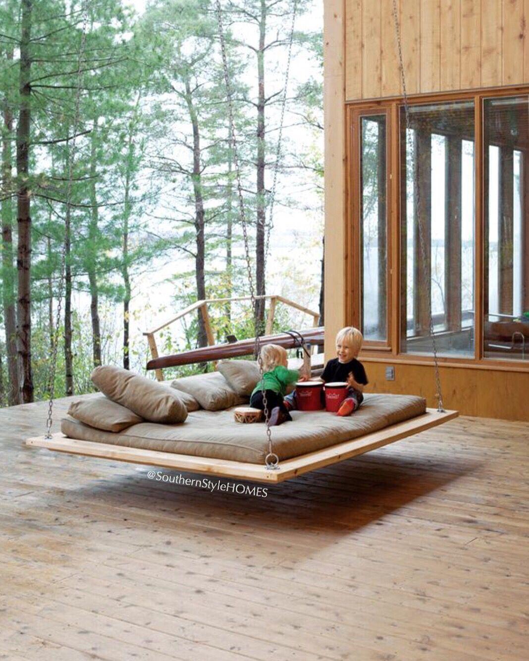 Luxury Designer Floating Bed For Garden Home Interior Design