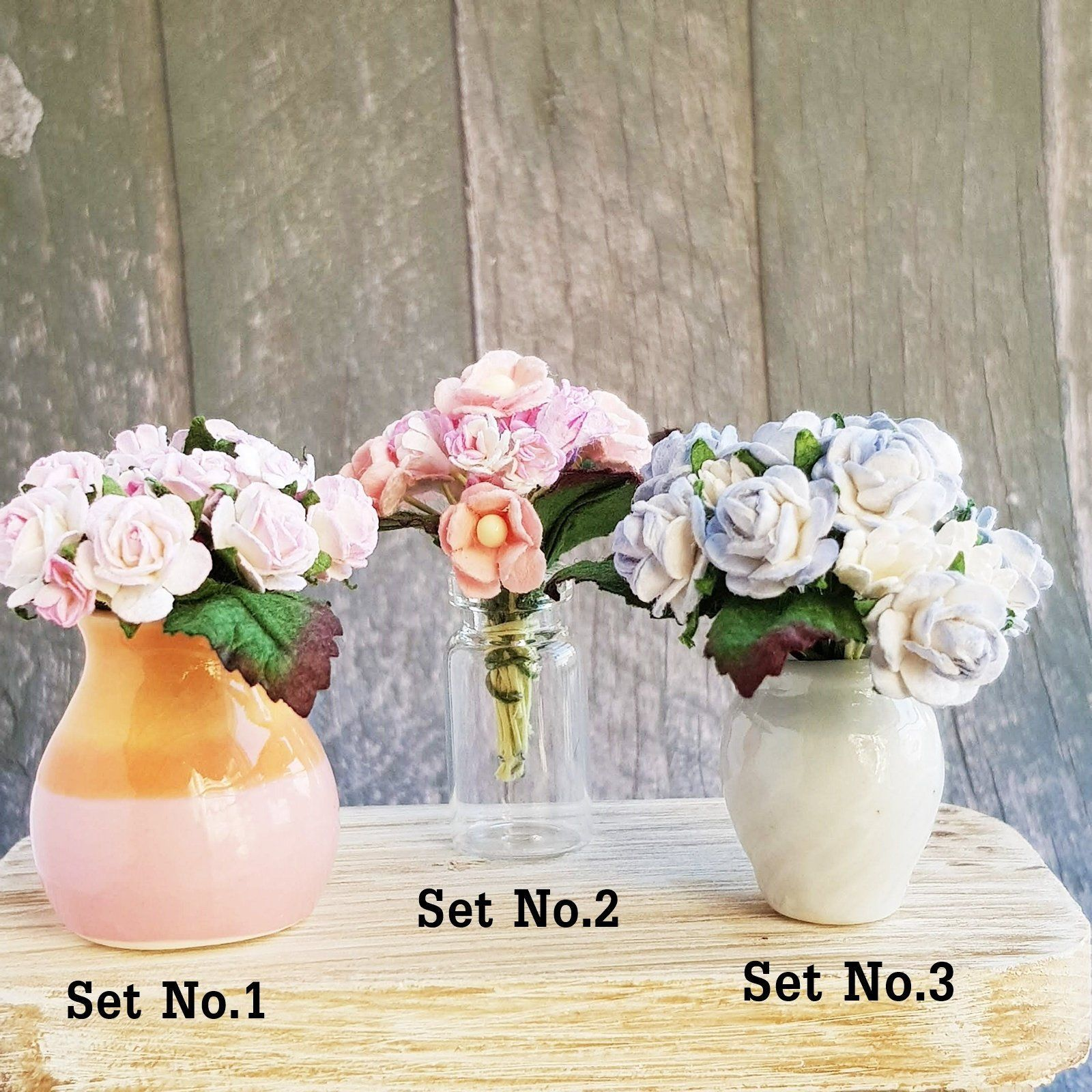 Mulberry Paper Flowers Rose Bouquet Sweet Pastel Flower