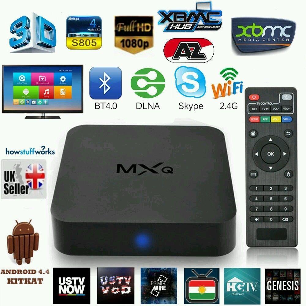 MXQ 4k Android TV Box Quad Core Fully Loaded Kodi 16.1 HD