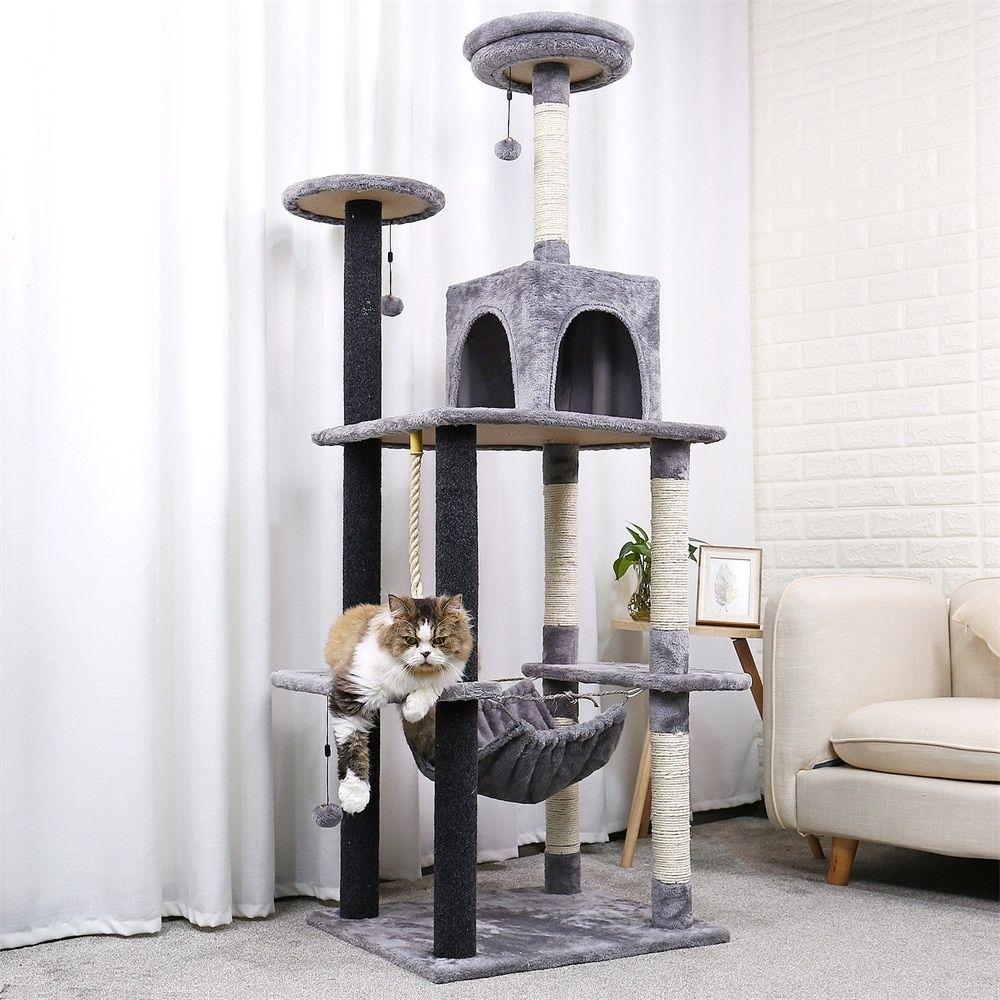 Luxury 175cm Cat Tree House In 2020 Cat Tree House Cat Tree Modern Cat Furniture