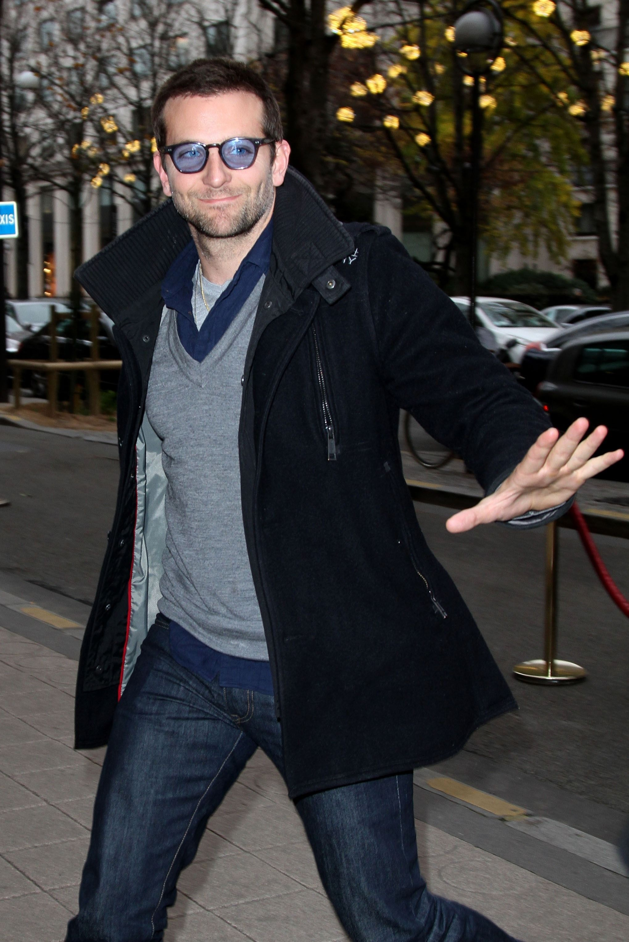 Bradley Cooper In The Superdry Premier Pea Trench Coat Mens Jackets Casual Casual Jacket Trench Coat [ 3055 x 2039 Pixel ]