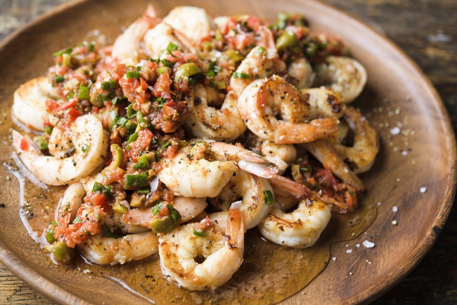 Shrimp with Kerkennaise Sauce Recipe Seafood recipes
