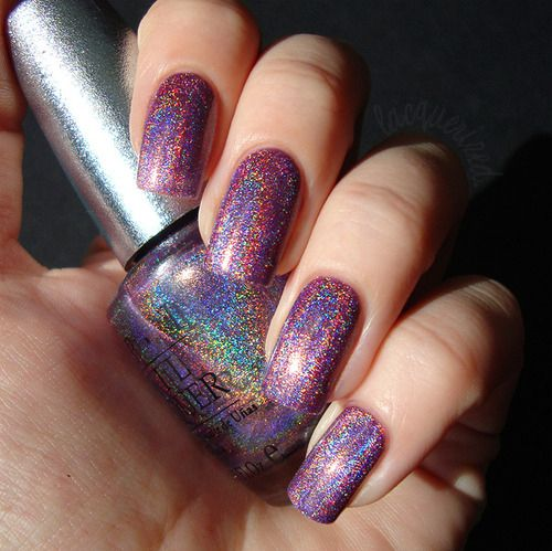 Opi Glitter Nail Polish Nails Purple