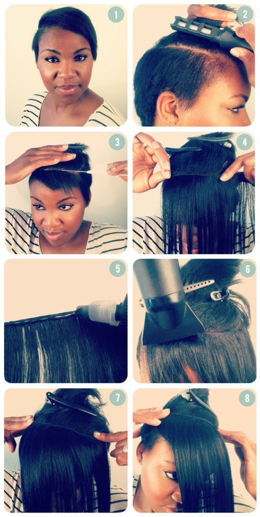 Glue In Weave Hairstyles : weave, hairstyles, ADDING, LENGTH, SHORT, Extensions, Short, Hair,, Extensions,
