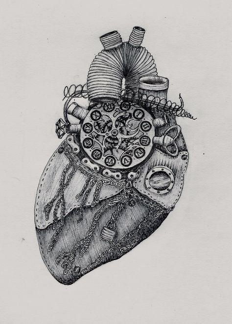 steampunk heart drawing - Google Search | Heart drawing ...