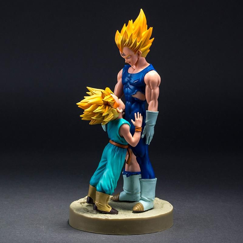 Action & Toy Figures Dragon Ball Z Super Saiyan Majin Vegeta And Trunks Ssj Action Figure Toy Doll Brinquedos Figurals Collection Dbz Model Gift