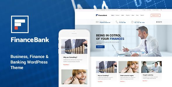 financebank v1 7 business finance banking wordpress theme blogger