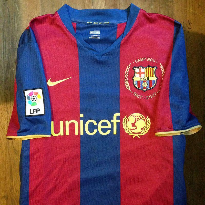 2007-2008 FC Barcelona Home Jersey    • Primera equipació del FC Barcelona  per fd0a9bf5be9