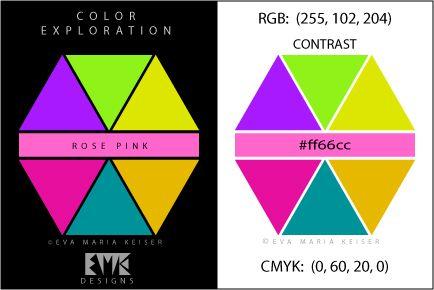 Eva Maria Keiser Designs Explore Color Rose Pink Contrast