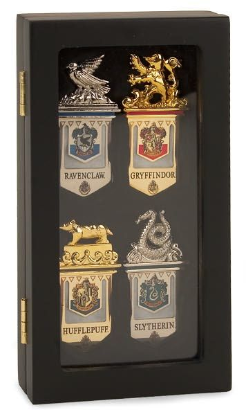 I wouldn't be able to use the Slytherin one. | Hogwarts House Metal Bookmarks - Set of 4