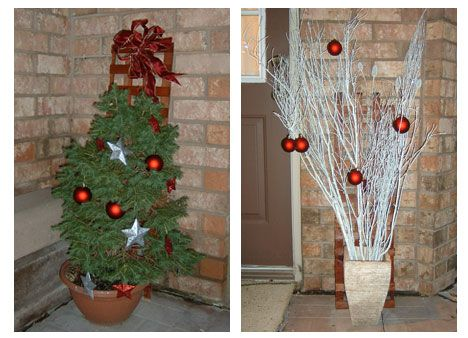 hgtv christmas tree decorating are some other simple but elegant modern outdoor holiday decorating