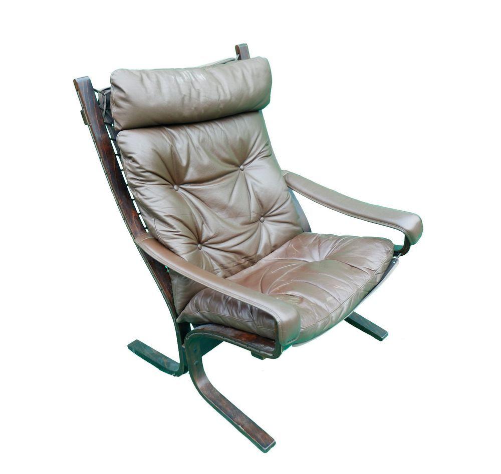 Norwegian Ingmar Relling Westnofa 039 Siesta 039 High Back Leather Lounge Arm Chair Leather Lounge Danish Lounge Chair Leather Chair