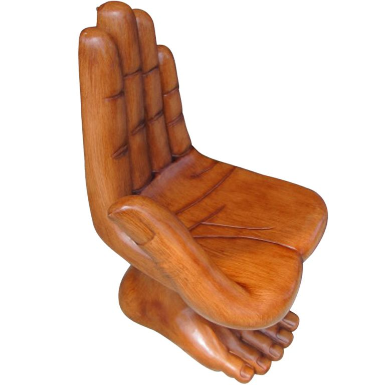 Perfect Sculptural Hand And Foot Chair In The Manner Of Pedro Friedeberg