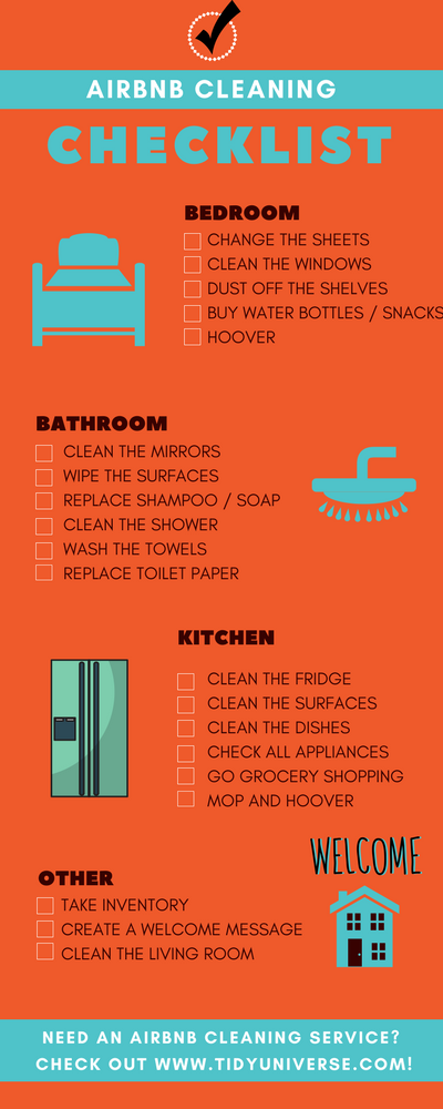 Vacation Home Cleaning Checklist