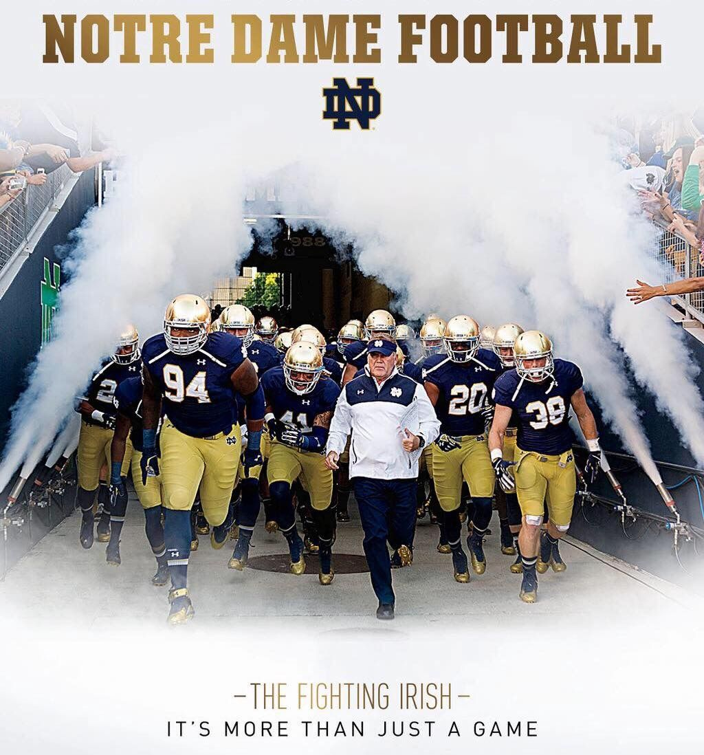 Pin by David Hinson on Notre Dame Notre dame football