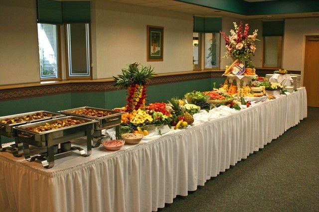 Wedding reception buffet set up buffet table set up for - Sideboard deko ...
