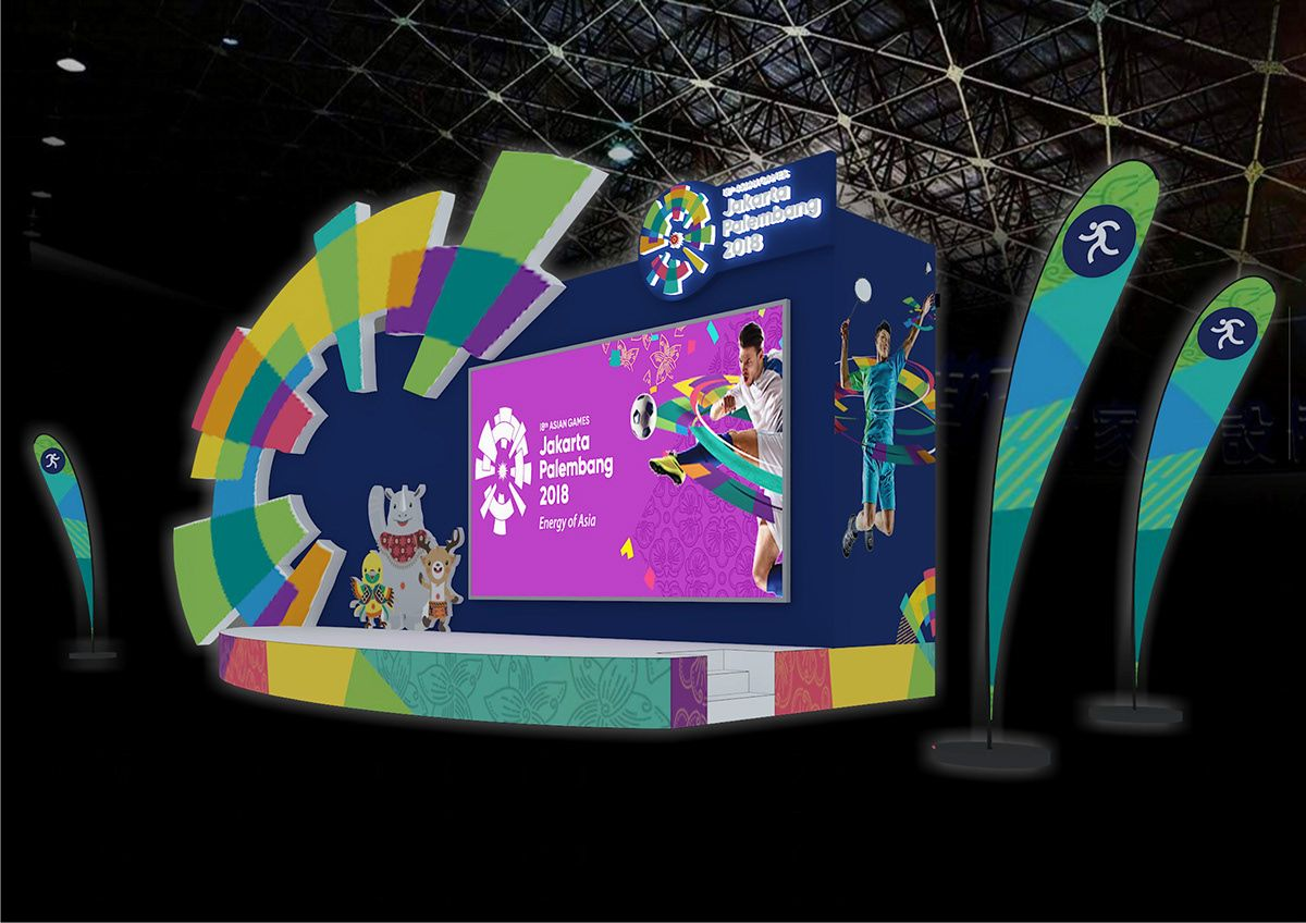 Stage Design Event Booth Asian Games 2018 Jakarta On