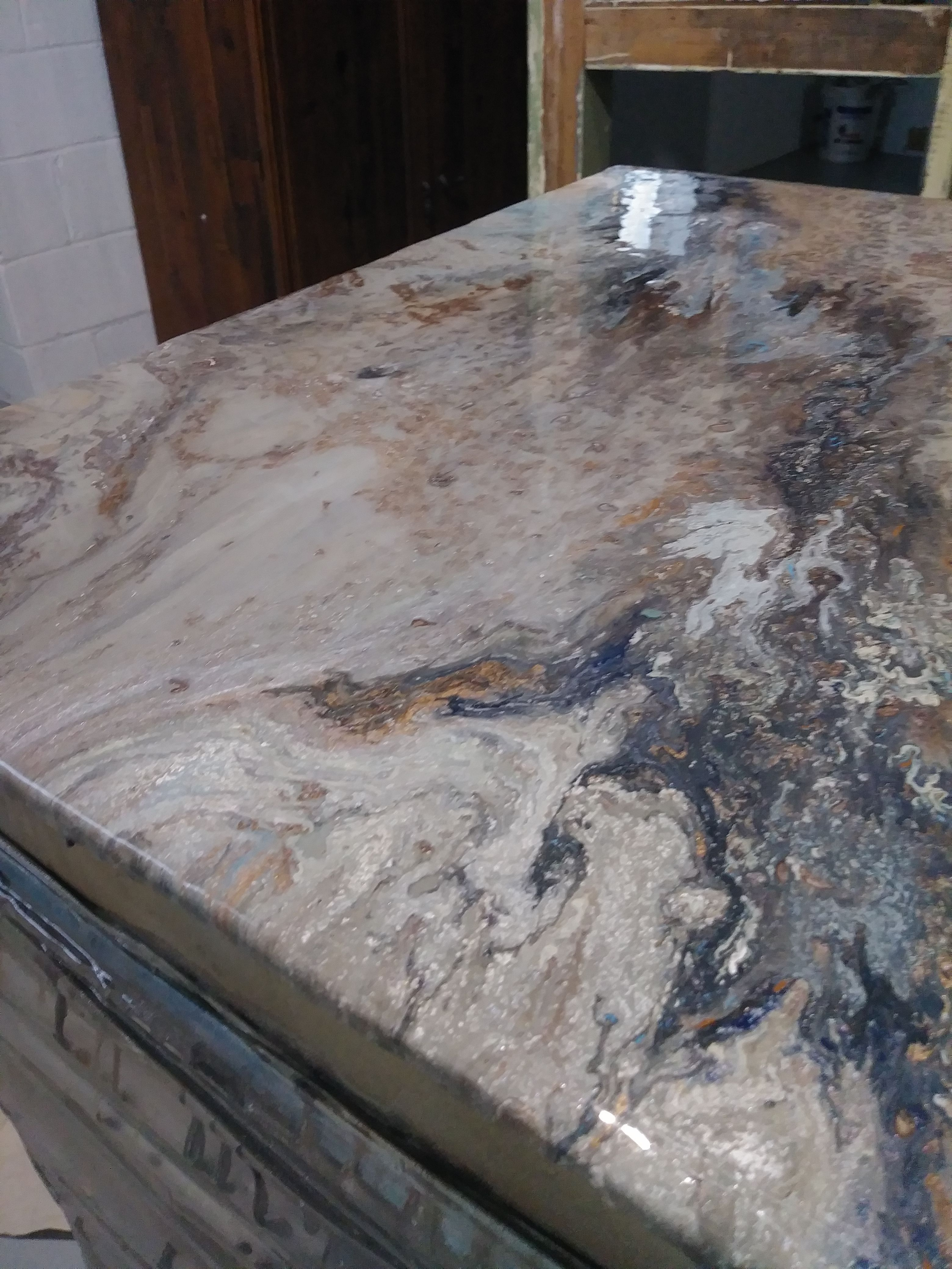 Can I Make Stone Coat Countertops Yes You Can Arbeitsflachen Betonplatten Arbeitsplatte