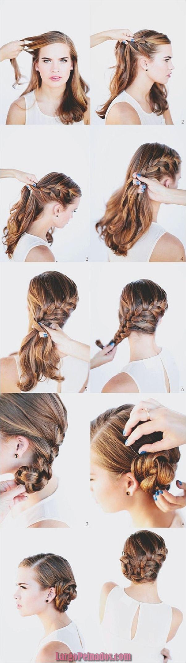 15 sencillos peinados paso a paso para cabello largo » Largo Peinados