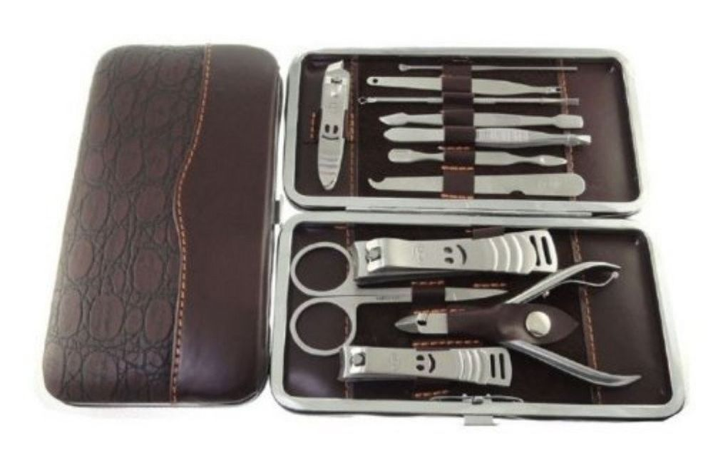 Manicure Pedicure Set Tools Travel Grooming Kit Women Men Nail ...