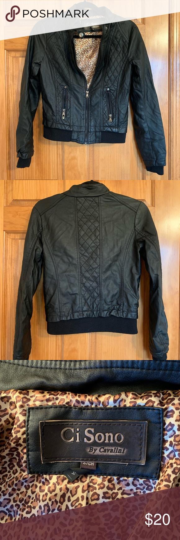 Ci Sono By Cavalini Bomber Jacket Women S S Bomber Jacket Women Faux Leather Bomber Jacket Jackets For Women