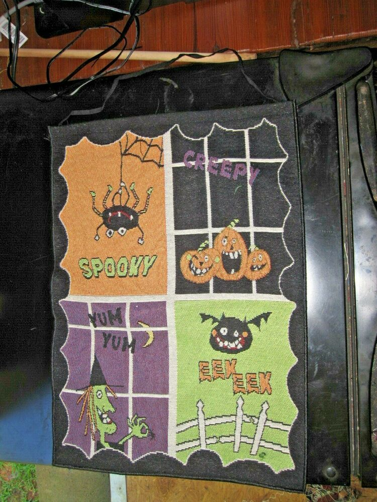 Halloween Spooky Smiles Tapestry Fabric Wallhanging