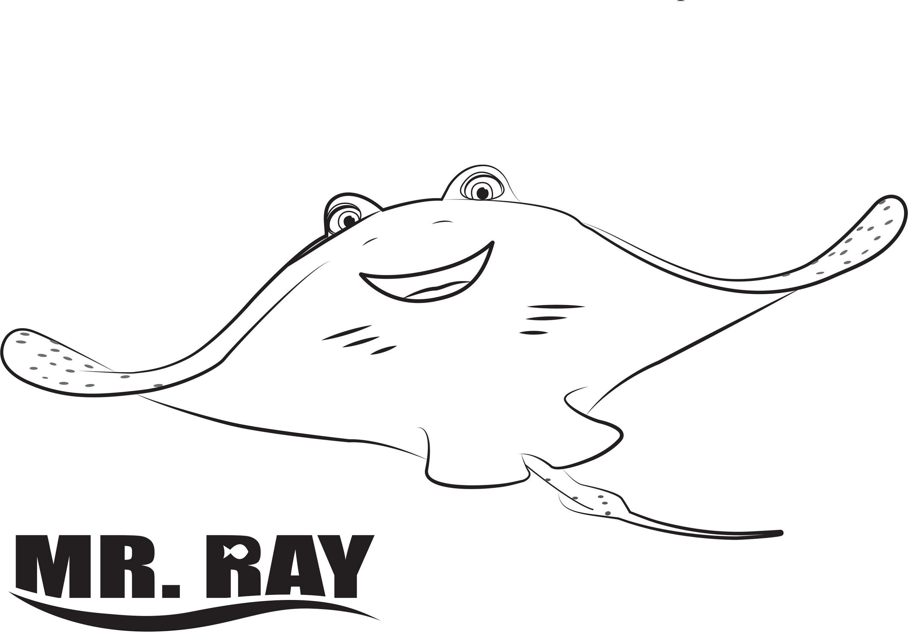 Finding Dory Coloring Pages Mr Ray Educative Printable