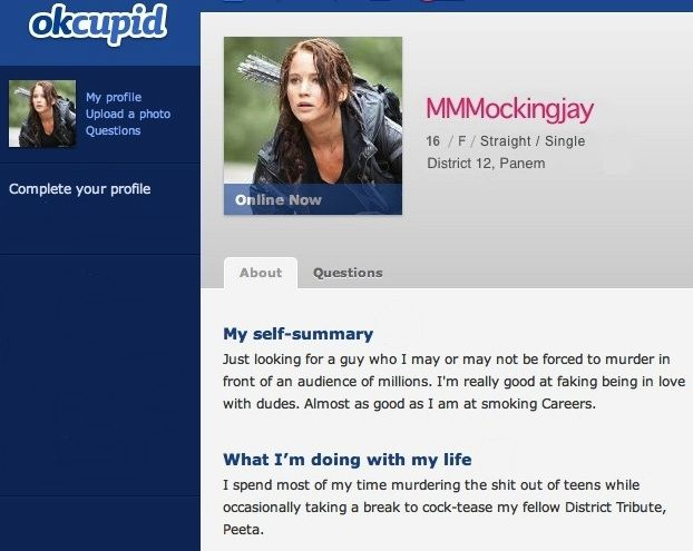 Funny online dating profile examples