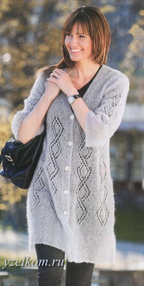 кардиганы спицами фото кардиган для полных женщин мохер вязание