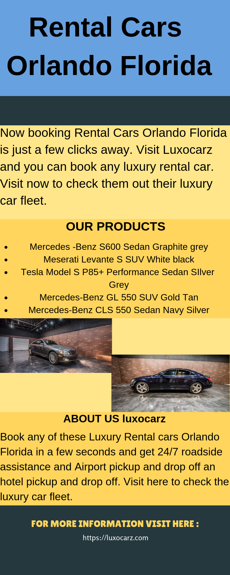 Now Booking Rental Cars Orlando Florida Is Just A Few Clicks Away Visit Luxocarz And You Can Book Any Luxury Rental Ca With Images Car Rental Book Rentals Orlando Florida