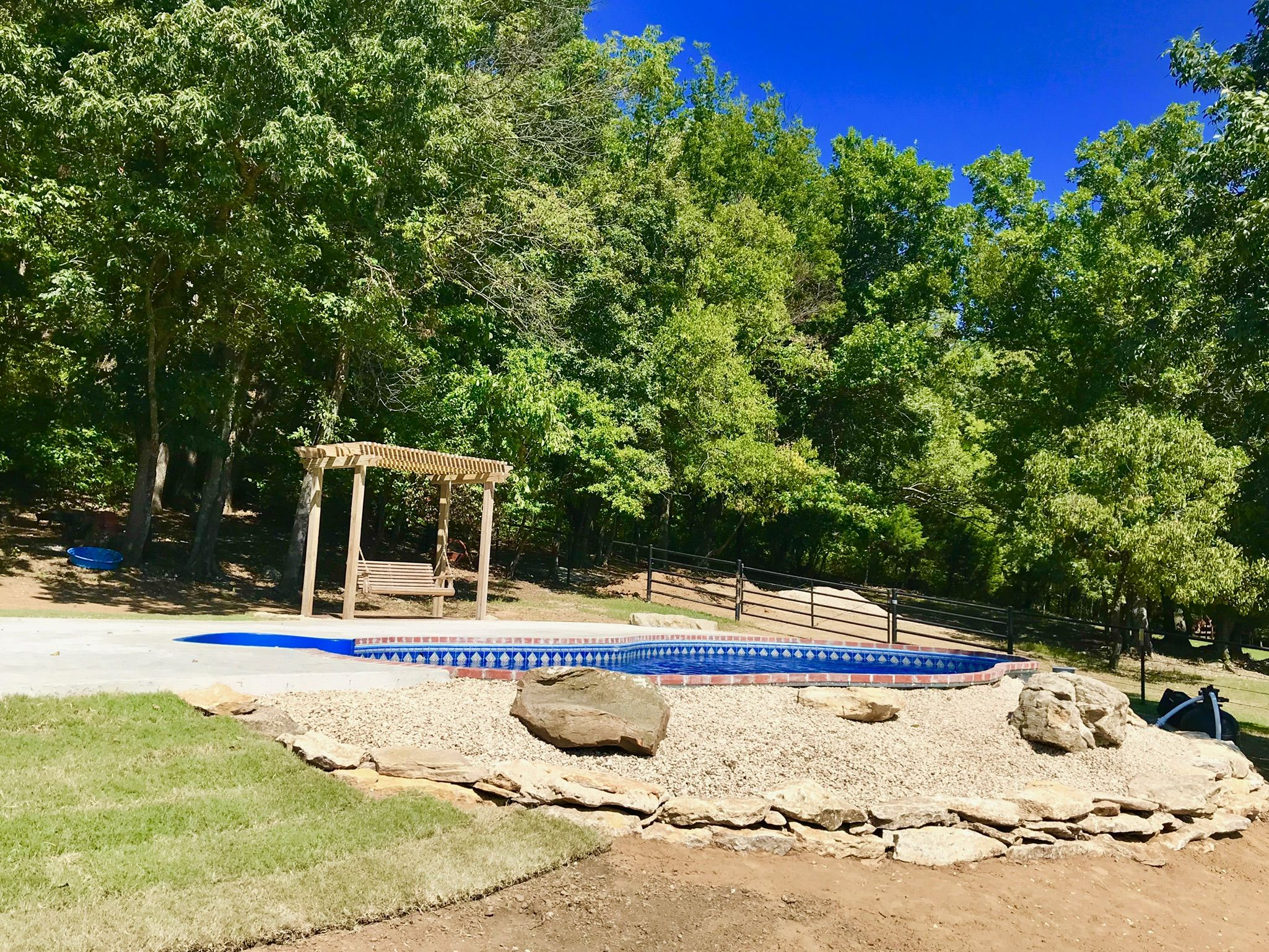 Freeform Semi In Ground Pool Inspiration Galaxy Home Recreation L Okc Tulsa Broken Arrow In 2020 In Ground Pools Galaxy Homes Outdoor Recreation