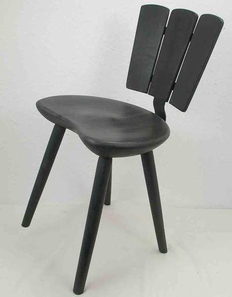 Vollholzstuhl für kleine Räume Küchenstuhl schwarz von Schlüter Kunst und Design - Stühle, Kommoden, Regale, Modeschmuck auf DaWanda.com