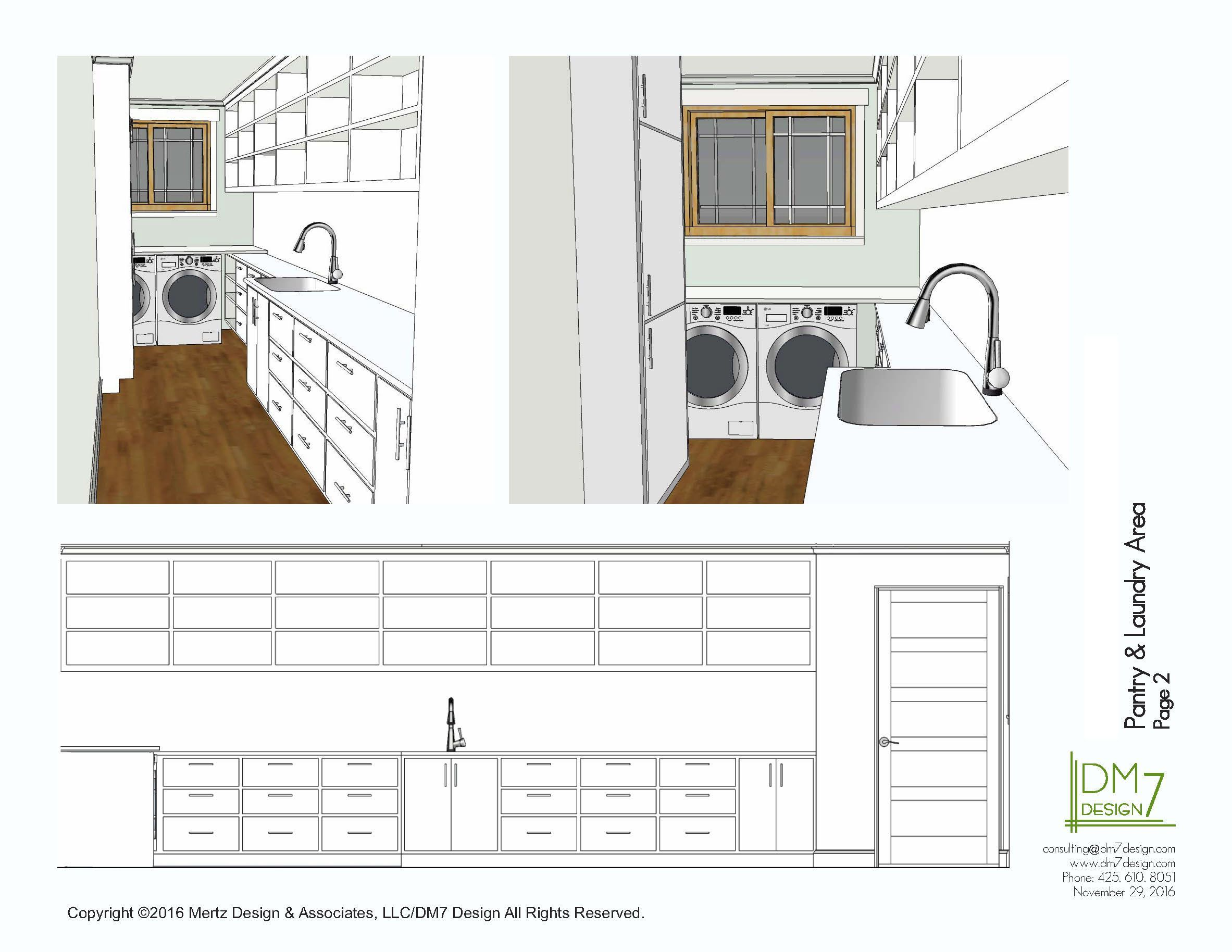 Updated laundry and pantry in a long narrow space. Concept ... on house plans with corner sink, house plans with 10 foot ceilings, house plans with sunken living room, house plans with half bath, house plans with great room, house plans with 2 living areas, house plans with larder, house plans with sunken family room, house plans with handicap access, house plans with widow walk, house plans with front veranda, house plans with wall of windows, house plans with split floor plan, house plans with upstairs living, house plans with computer nook, house plans with secret passage, house plans with first floor master, house plans with 6 rooms, house plans with 2 master bathrooms, house plans with computer area,
