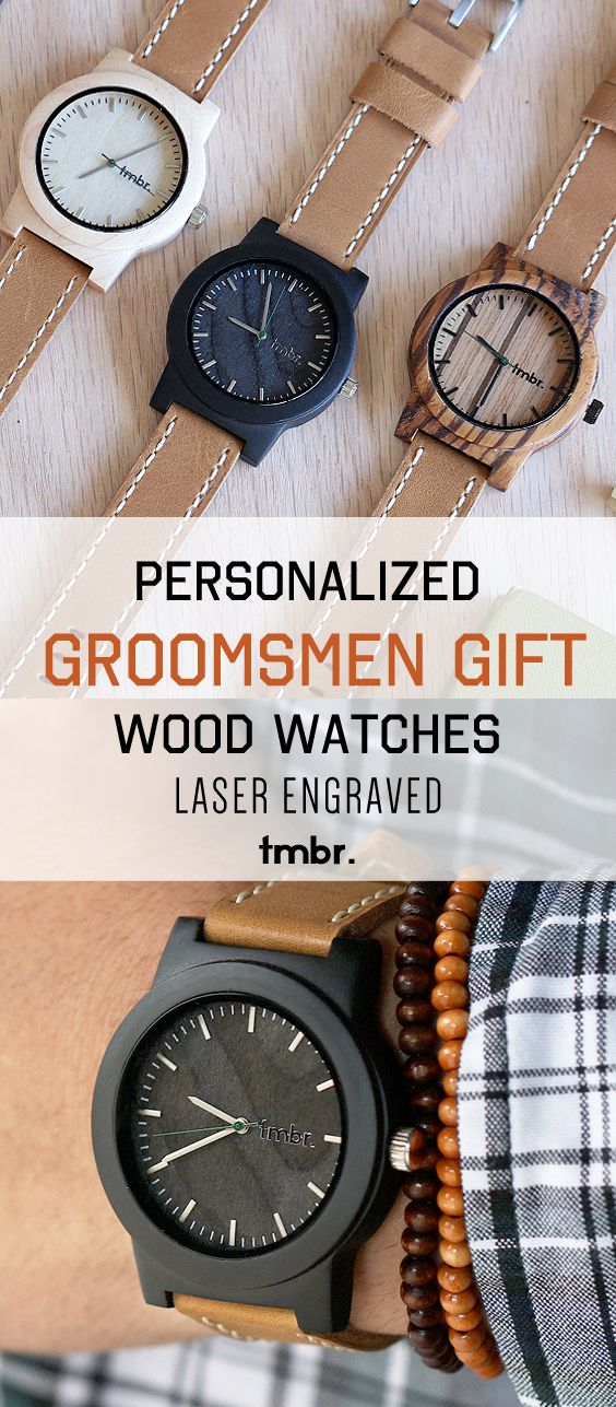 the perfect groomsmen gift idea personalized real wood watches tmbr handcrafted men s wood watches made from eco friendly high quality maple rosewood or sandalwood customized wood watches also available for gifts